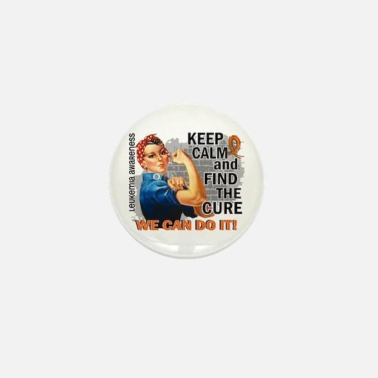Rosie Keep Calm Leukemia Mini Button (10 pack)