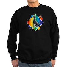 Abstract Rainbow Doberman Sweatshirt