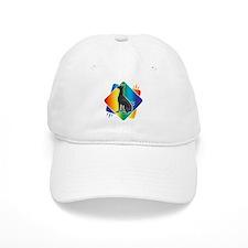 Abstract Rainbow Doberman Baseball Cap
