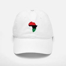 Red, Black and Green Africa Flag Baseball Baseball Cap