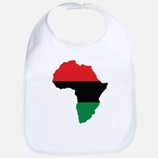 Red, Black and Green Africa Flag Bib