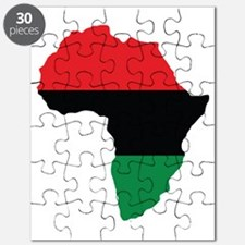 Red, Black and Green Africa Flag Puzzle