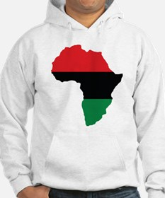 Red, Black and Green Africa Flag Jumper Hoody