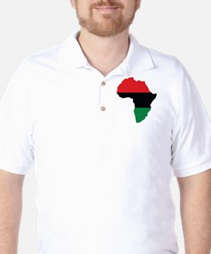 Red, Black and Green Africa Flag Golf Shirt