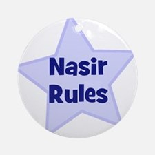 Nasir Rules Ornament (Round)