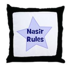 Nasir Rules Throw Pillow