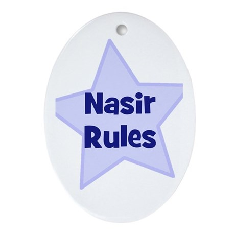 Nasir Rules Oval Ornament