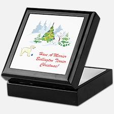 Bedlington Terrier Christmas Keepsake Box