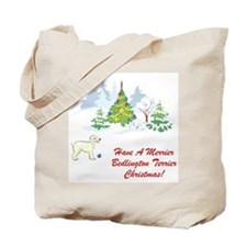 Bedlington Terrier Christmas Tote Bag