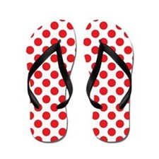 Red Polka Dots Flip Flops