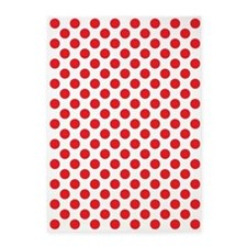 Red Polka Dots 5'x7'Area Rug
