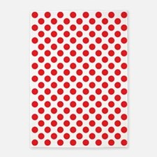 Red Polka Dots 5'x7'Area Rug
