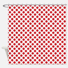 Red White Polka Dot Shower Curtains Red White Polka Dot
