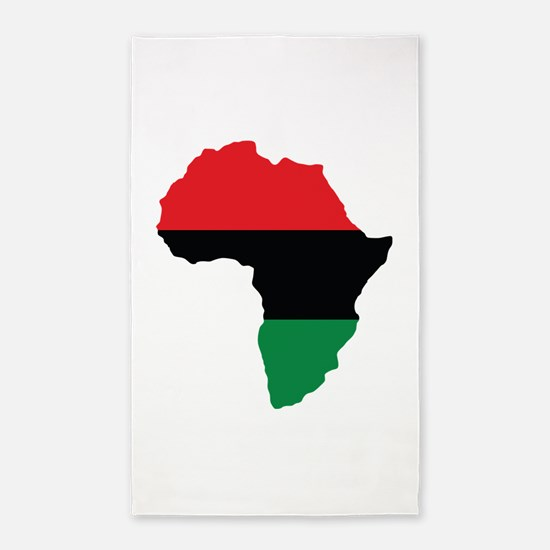 Red, Black and Green Africa Flag 3'x5' Area Rug