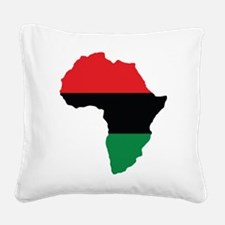 Red, Black and Green Africa Flag Square Canvas Pil