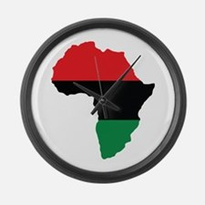 Red, Black and Green Africa Flag Large Wall Clock