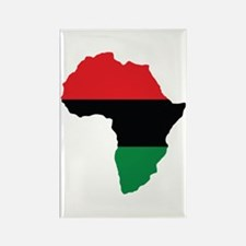 Red, Black and Green Africa Flag Rectangle Magnet