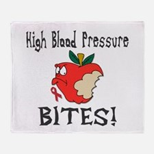High Blood Pressure Bites Throw Blanket