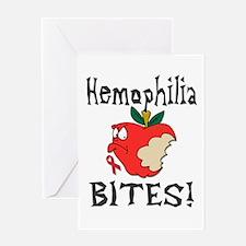 Hemophilia Bites Greeting Card