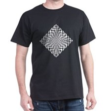Op Art Hearts & Arrows Black T