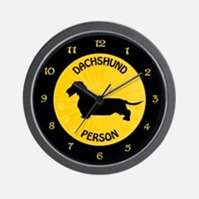 Dachshund Person Wall Clock