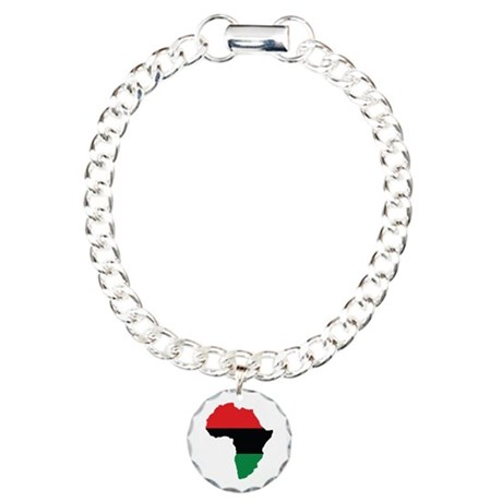 Red, Black and Green Africa Flag Bracelet by forgottentongues