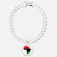 Red, Black and Green Africa Flag Charm Bracelet, O