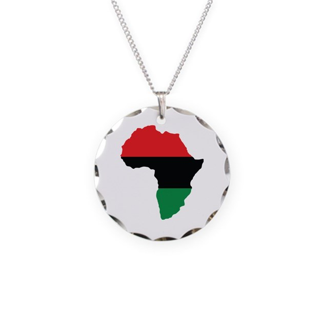 Red black and green africa flag necklace by forgottentongues for Red black and green jewelry
