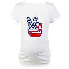 70s USA Flag Peace Hand Shirt