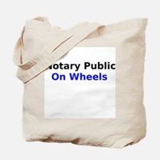Notary Public On Wheels Tote Bag