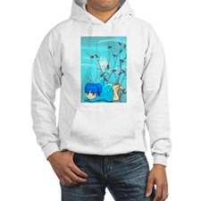 Blue fairy and birds Hoodie