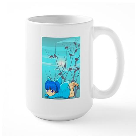 Blue fairy and birds Mug