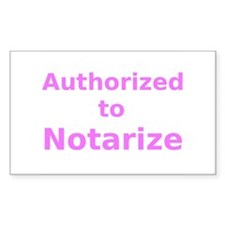 Authorized to Notarize Decal