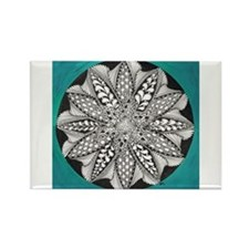 Teal Zen Rectangle Magnet