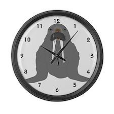 Walrus Large Wall Clock