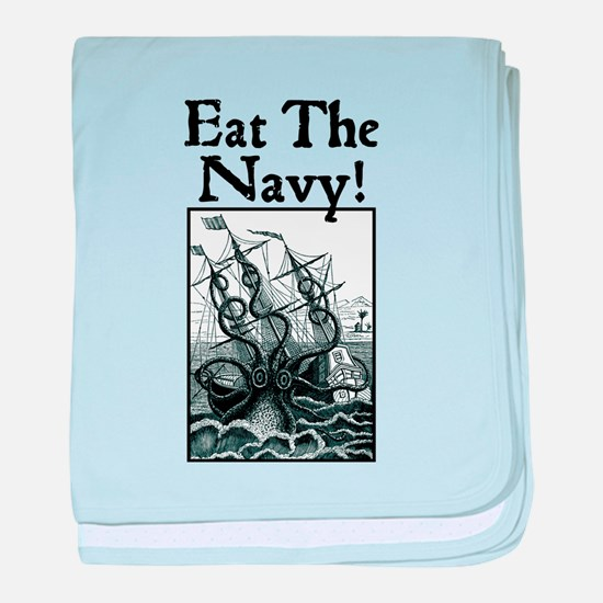 Eat The Navy! baby blanket
