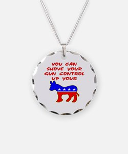 Shove Your Gun Control Necklace Circle Charm