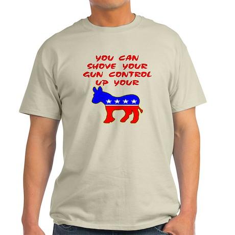 Shove Your Gun Control Light T-Shirt