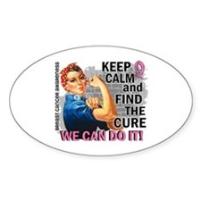 Rosie Keep Calm Breast Cancer Decal