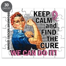 Rosie Keep Calm Breast Cancer Puzzle