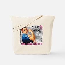 Rosie Keep Calm Breast Cancer Tote Bag
