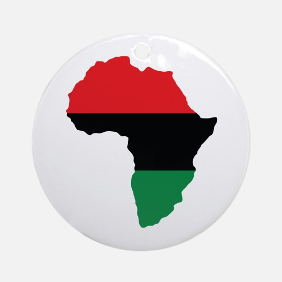 Red, Black and Green Africa Flag Ornament (Round)