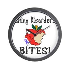 Eating Disorders Bites Wall Clock
