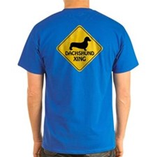 Dachshund Xing (2-sided) T-Shirt