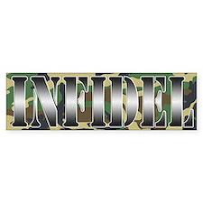 INFIDEL Woodland Camo Bumper Sticker