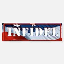 INFIDEL Flag Bumper Bumper Sticker