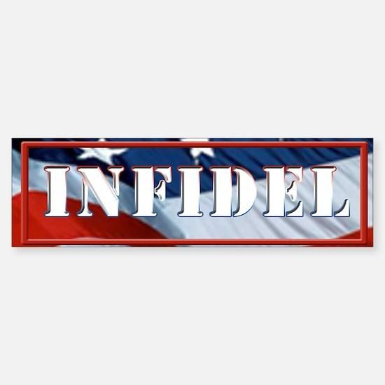 INFIDEL Flag Sticker (Bumper)