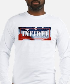 INFIDEL U.S.A. flag Long Sleeve T-Shirt