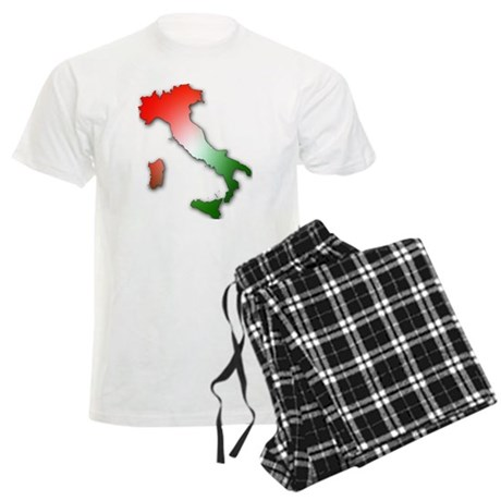 Italy With Tricolor Pajamas