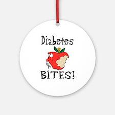 Diabetes Bites Ornament (Round)